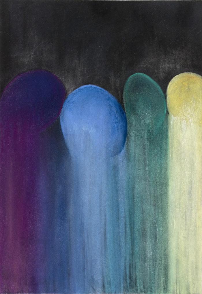 Rebirth (再生 / 2007) Pastel & Charcoal on Paper, 39cm x 27cm