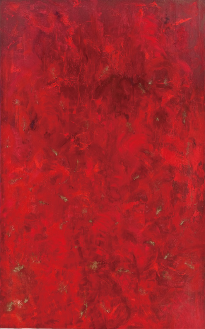 Falling through Mars (oil & mixed media on canvas, 243.84 x 152.84cm, 2011)