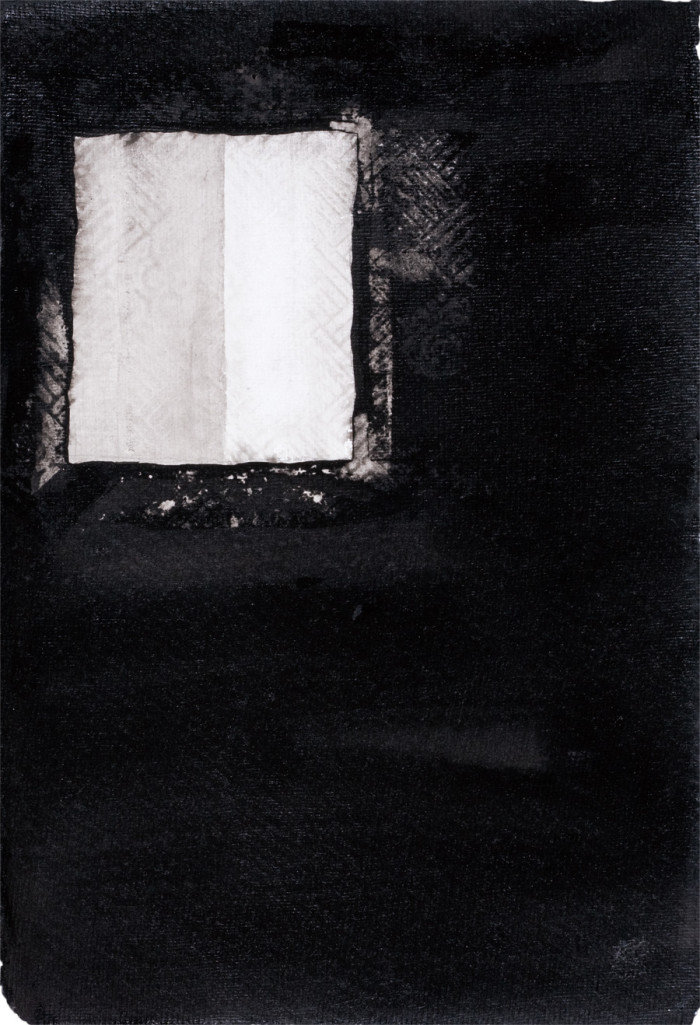 Passing Shades (3), Chinese ink on paper, 30.48 x 25.4cm, 2013