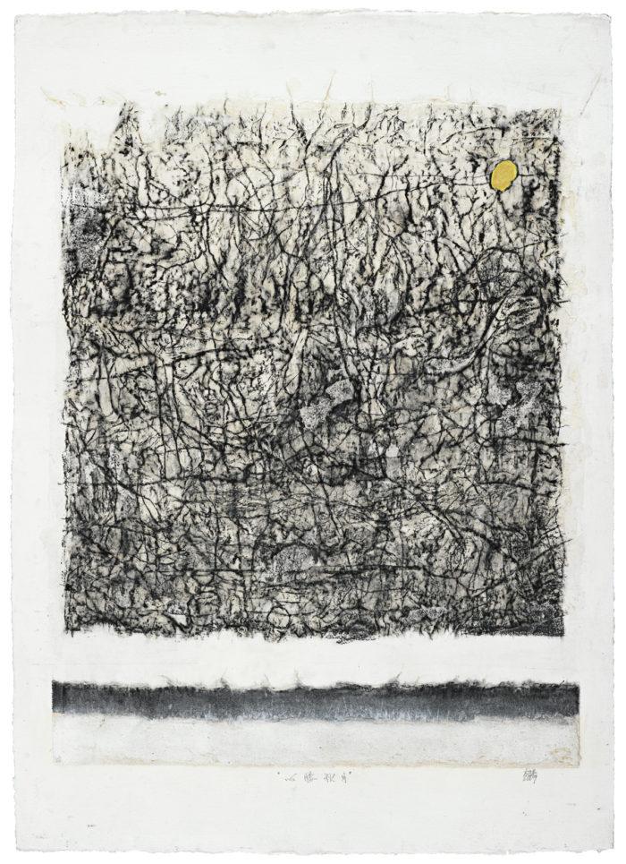 """Autumn Moon (mixed media on paper, 30"""" x 41"""", 2009)"""