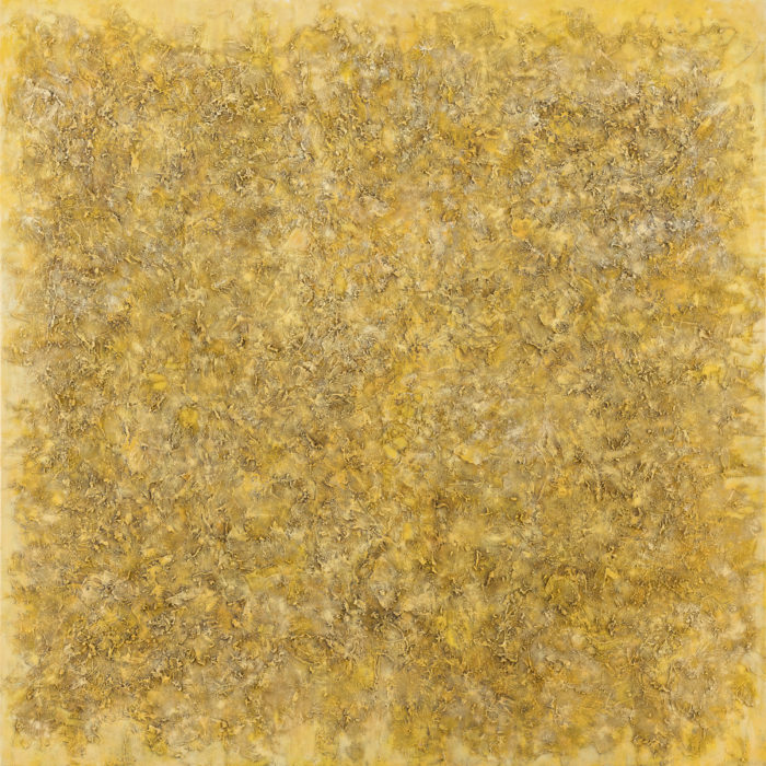 Vibration in Yellow 1 (共振 黃 I / 2017) Oil & Mixed Media on Canvas, 152.5cm x 152.5cm