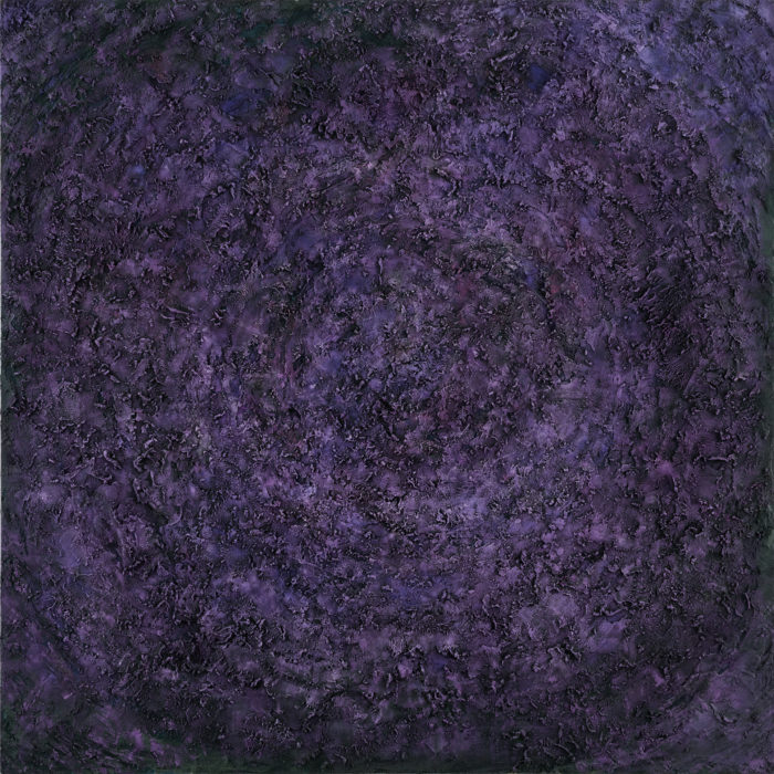 Vibration in Violet (共振 紫 / 2017) Oil & Mixed Media on Canvas, 152.5cm x 152.5cm