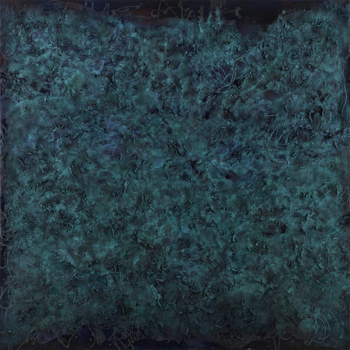 Vibration in Green (共振 綠 / 2017) Oil & Mixed Media on Canvas, 152.5cm x 152.5cm