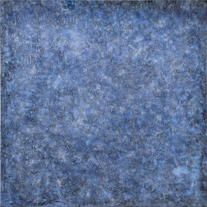 Vibration in Blue (共振 藍 / 2017) Oil & Mixed Media on Canvas, 152.5cm x 152.5cm