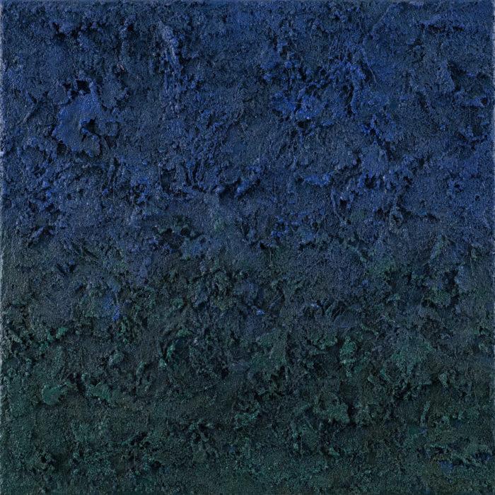Prism (Blue / 稜鏡-藍 / 2017) Oil & Mixed Media on Canvas, 25.5cm x 25.5cm