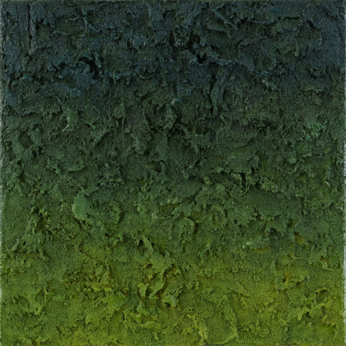 Prism (Green / 稜鏡-綠 / 2017) Oil & Mixed Media on Canvas, 25.5cm x 25.5cm