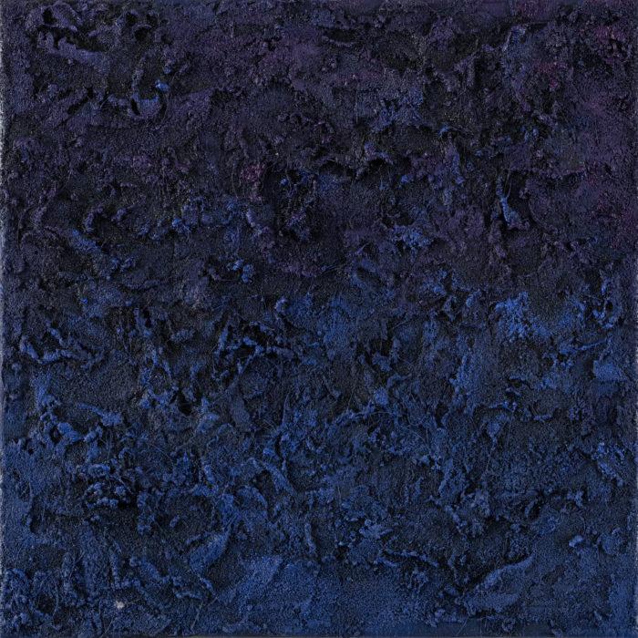 Prism (Indigo / 稜鏡-靛 / 2017) Oil & Mixed Media on Canvas, 25.5cm x 25.5cm