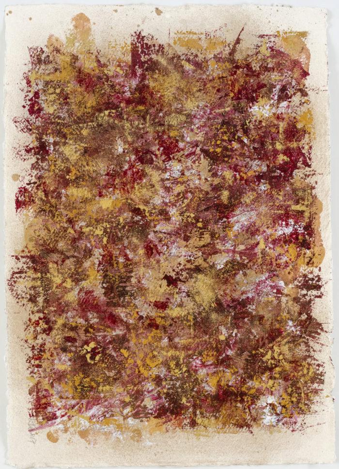 Sky Dance 2 (空行舞 II / 2017) Acrylic & Gold Dust on Paper, 42cm x 29.5cm