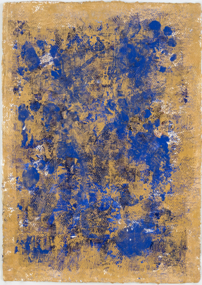 Sky Dance 3 (空行舞 III / 2017) Acrylic & Gold Dust on Paper, 41.5cm x 29.5cm